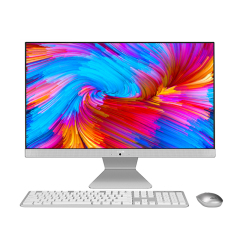 华硕(ASUS) 傲世V4000 21.5英寸商用办公一体机台式电脑(赛扬J4005 4G 1T  128GSSD   集显  )白